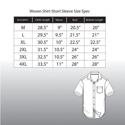 Rav Design 100% Cotton Woven Shirt Short Sleeve |RSS32453212