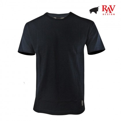 Rav Design Men's 100% Cotton Round Neck T-Shirt Navy Blue |RRT29671