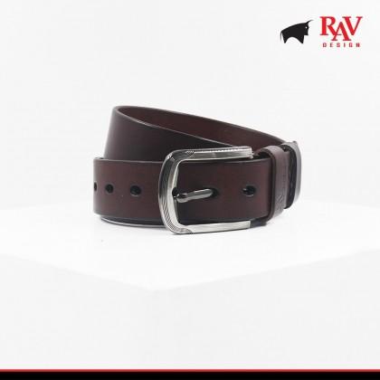 Rav Design Men's 100% Leather Pin Buckle Belt |YRB040G1