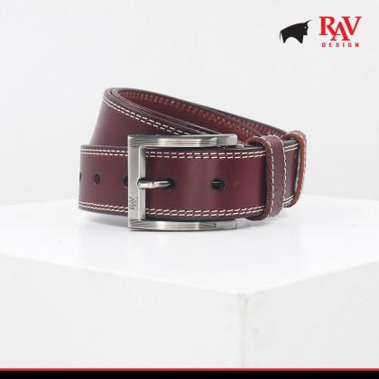 Rav Design Men's 100% Leather Pin Buckle Belt |YRB030G1