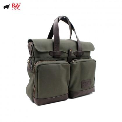 RAV DESIGN MESSENGER BAG CANVAS GREEN  RVC437G3