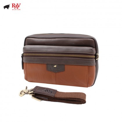 RAV DESIGN ANTI RFID LEATHER Pouch Bag |RVC438G2