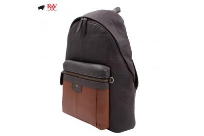 RAV DESIGN LEATHER CASUAL BAG BACKPACK ANTI-RIFD |RVC438G3