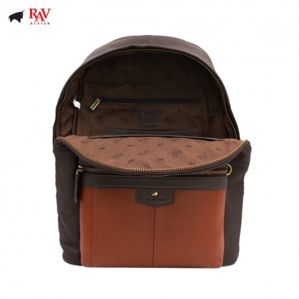 RAV DESIGN LEATHER CASUAL BACKPACK ANTI-RIFD |RVC438G3