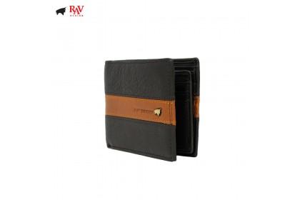 RAV DESIGN Leather Men Anti-RFID Short Wallet |RVW577G1(B)