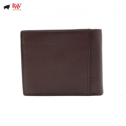 RAV DESIGN Leather Men Short Wallet with Coin Pocket |RVW603G1(C)
