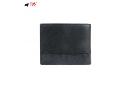 Rav Design Men Anti-RFID Leather Short Wallet Premium Edition |RVW610G1(B)