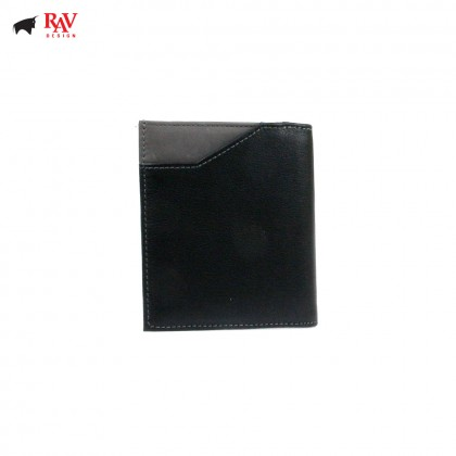 Rav Design Men Anti-RFID Leather Short Wallet Premium Edition Grey |RVW609G1(B)