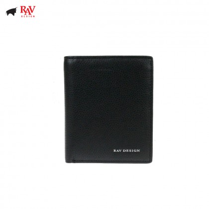 Rav Design Men Anti-RFID Leather Short Wallet Premium Edition |RVW607G2(B)