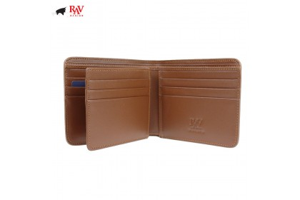 Rav Design Men Anti-RFID Leather Short Wallet Premium Edition Brown |RVW606G1
