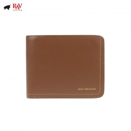 Rav Design Men Anti-RFID Leather Short Wallet Premium Edition Brown |RVW606G1