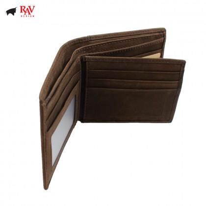 RAV DESIGN Men Genuine Leather Short Wallet |RVW600G1
