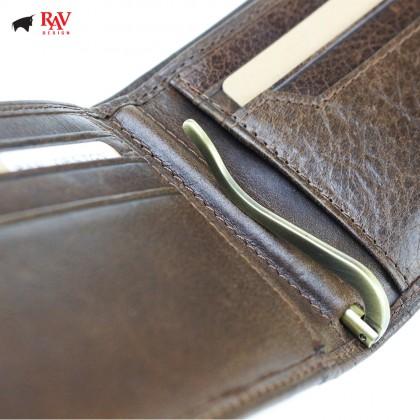 RAV DESIGN Men Genuine Leather Money Clipper Short Wallet  RVW604G3(C)