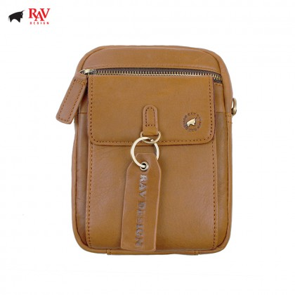 RAV DESIGN 100% Genuine Leather Belt Pouch Light Brown |RVC454G1