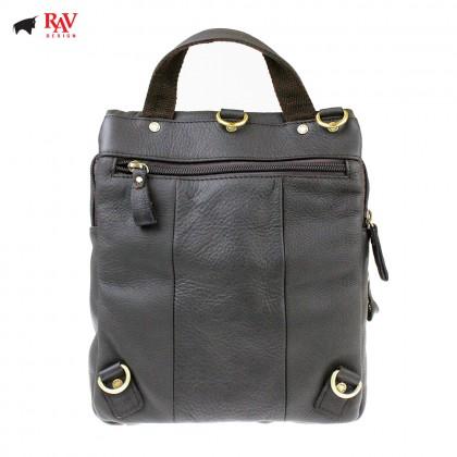 RAV DESIGN 100% Genuine Leather Sling Bag Dark Brown |RVC464G2
