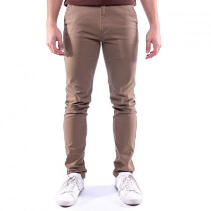 Rav Design Men's Long Pant Slim Fit Chino Brown |RLP29822592