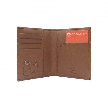 RAV DESIGN Men's Genuine Leather Anti-RFID Passport Holder  RVW667G1 (B)