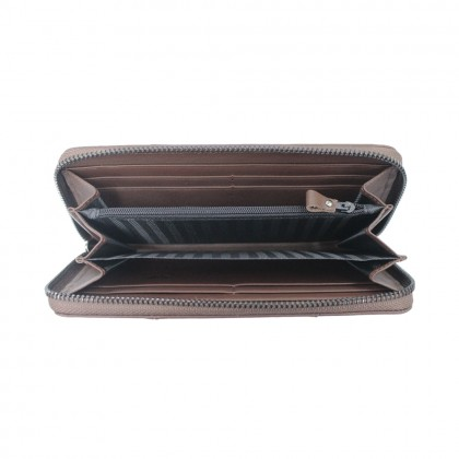 RAV DESIGN Men's Genuine Leather Anti-RFID Long Zip Wallet |RVW670G2 (C)