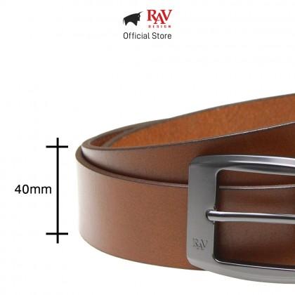 Rav Design Men's 100% Genuine Cow Leather 40mm Pin Buckle Belt Brown XXL  RVB558G1