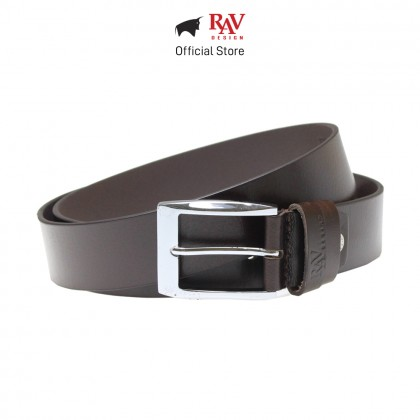 Rav Design Men's 100% Genuine Cow Leather 40MM Pin Buckle Belt Brown  RVB560G1