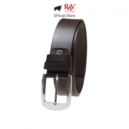 RAV DESIGN Men's 100% Genuine Cow Leather 40MM Pin Buckle Belt Brown |RVB562G1