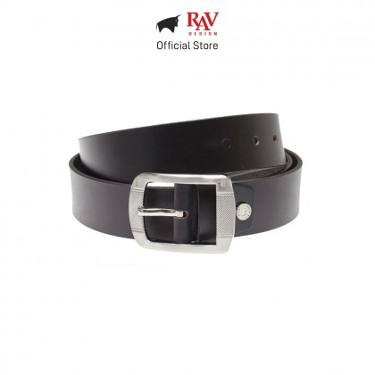 RAV DESIGN Men's 100% Genuine Cow Leather 40MM Pin Buckle Belt Brown |RVB566G1