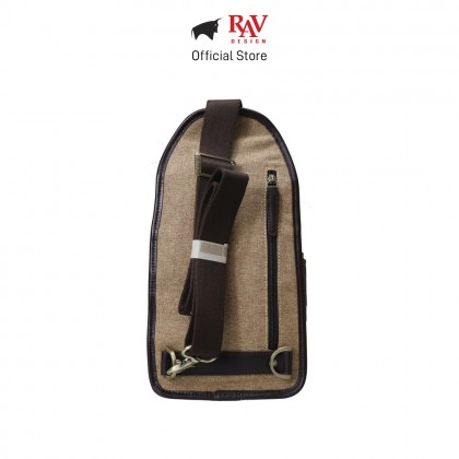 RAV DESIGN Men's Canvas with Leather Trimmings Chest Bag |RVC456G2