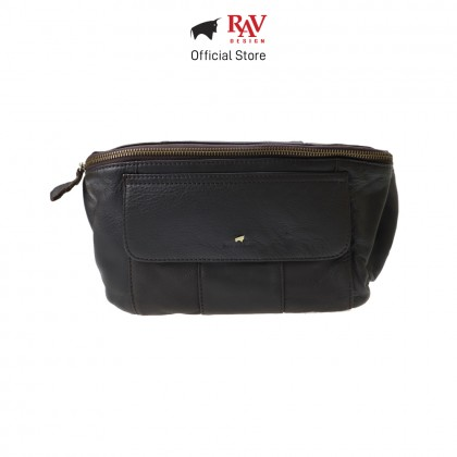 RAV DESIGN Men's Genuine Leather Belt Bag |RVY480 Series