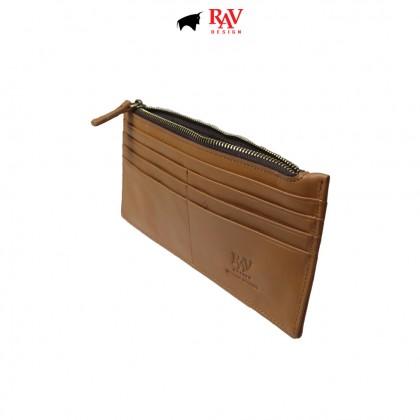 RAV DESIGN Men's Genuine Leather Anti-RFID Card Holder Wallet  RVW673G3 (D)