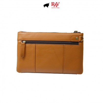RAV DESIGN Men's Genuine Leather Anti-RFID Wallet |RVW673G4 (E)