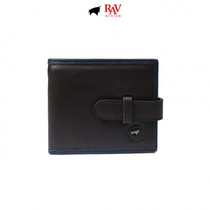 RAV DESIGN Men's Genuine Leather Anti-RFID Wallet |RVW674G1 (A)