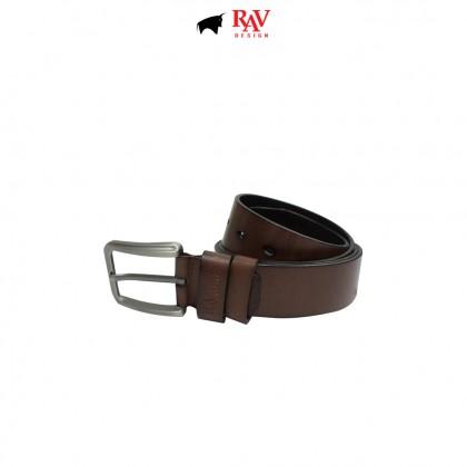 RAV DESIGN Men's 100% Genuine Cow Leather 40MM Pin Buckle Belt Brown |RVB591G1