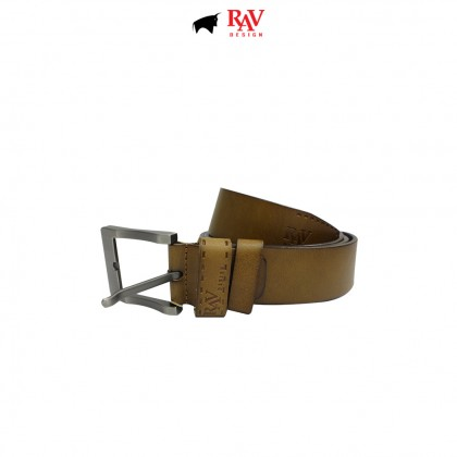 RAV DESIGN Men's 100% Genuine Cow Leather 40MM Pin Buckle Belt Brown |RVB592G1