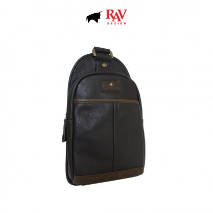 RAV DESIGN Men's Genuine Leather Crossbody Bag |RVE422G1