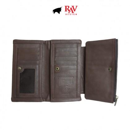 RAV DESIGN Men's Genuine Leather Long Wallet |RVW512G2