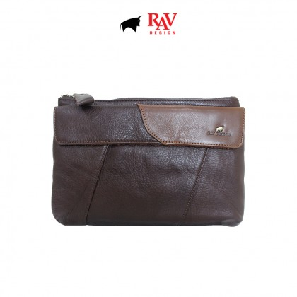 RAV DESIGN 100% Genuine Leather Clutch Bag With Card Holder  RVS474G1