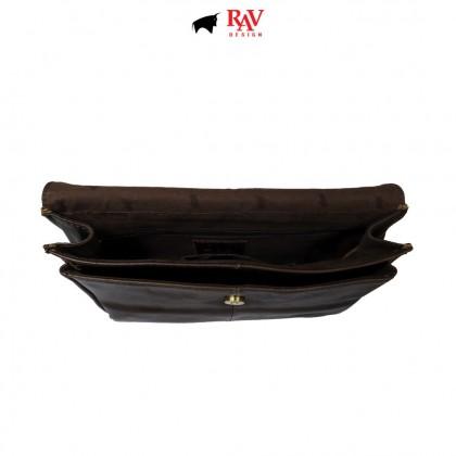 Men's Bundle 2: RAV Design Men's 100% Genuine Leather 38MM Pin Buckle Belt & Clutch Bag  RVB572G1 YRS047G2