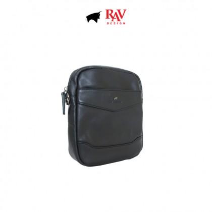 Men's Bundle 4: RAV Design Men's 100% Genuine Leather Anti-RFID Cardholder & Belt Pouch Bag  RVW666G1 RVC426G1