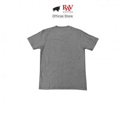 RAV DESIGN 100% Cotton Short Sleeve T-Shirt Light Melange |RRT29672092