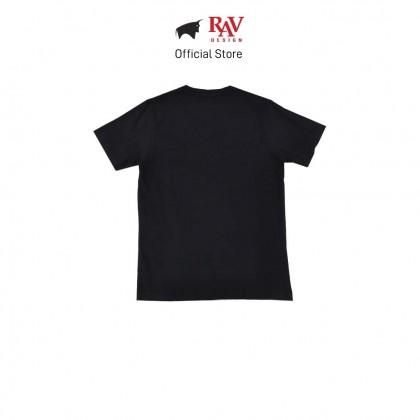 RAV DESIGN 100% Cotton Short Sleeve T-Shirt Black |RRT29672095